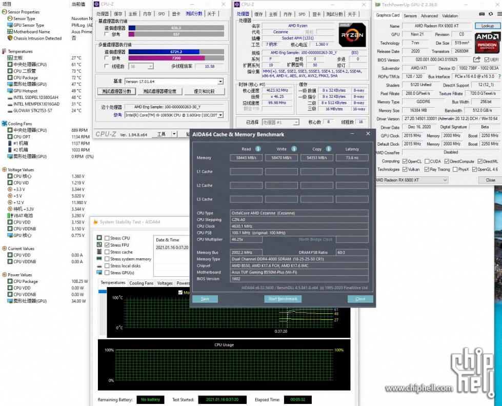 "AMD Ryzen 7 5700G ""Cezanne"" APU benchmark-2"