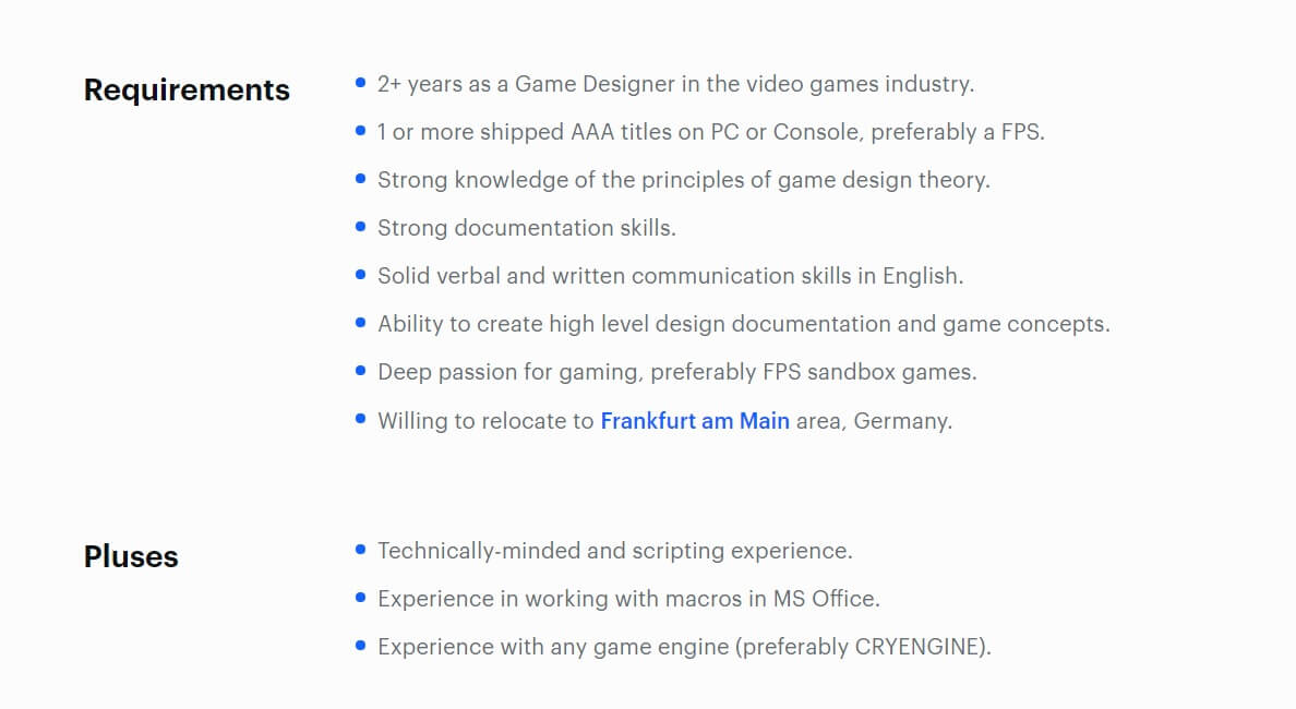 Crytek unannounced game job listing-2