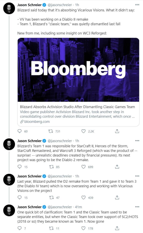 Diablo 2 Remake tweets