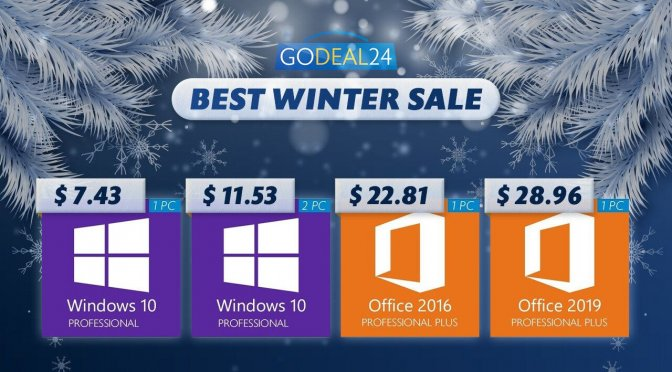 Hot Deal! Grab Windows 10 license price from $5.7 at Godeal24 Flash Winter Sale