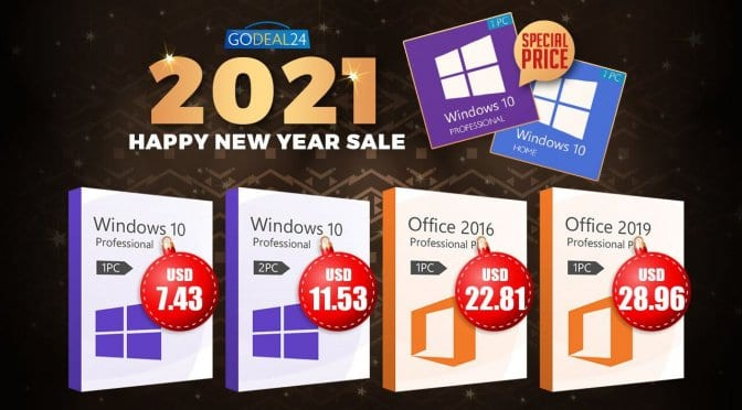 The Best 2021 New Year Deals: Windows 10 only starts from $5.7 , more discounts up to 62% off