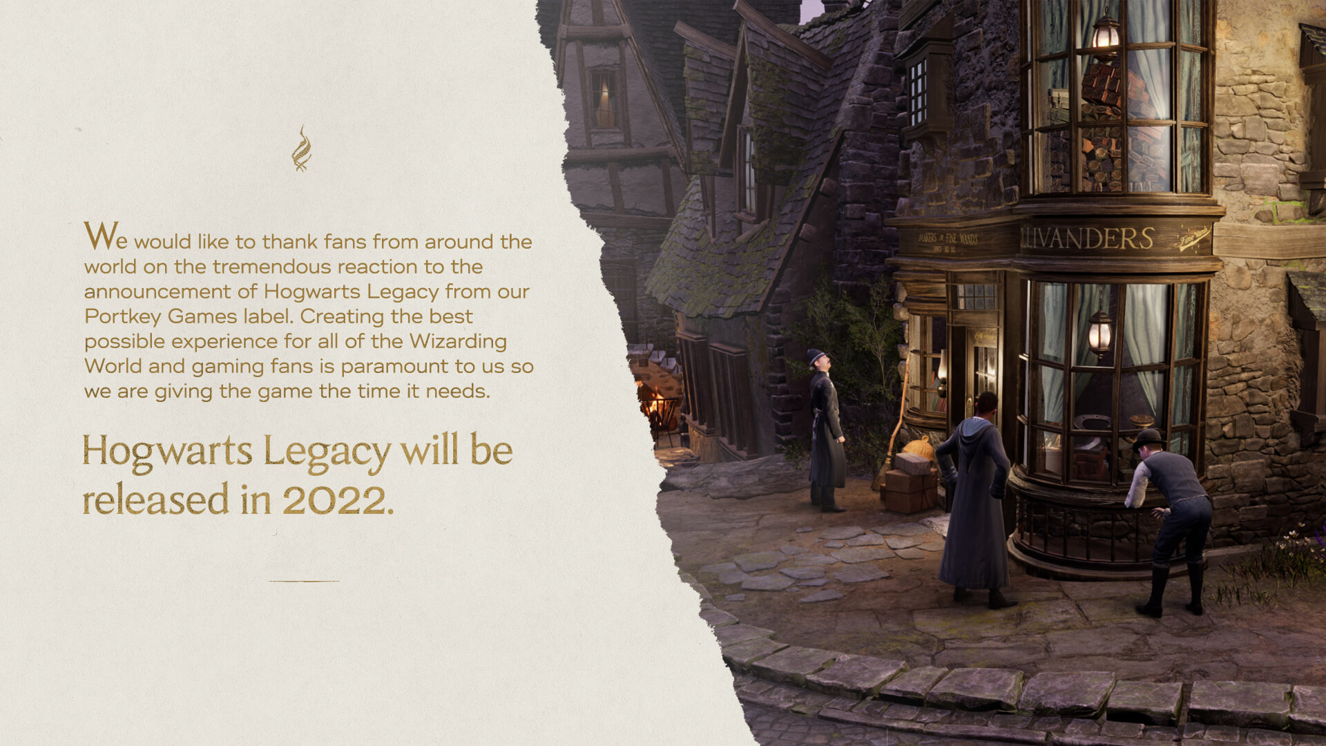 Hogwarts Legacy 2022 release date