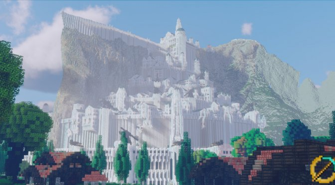 Minecraft The Lord of the Rings Minas Tirith