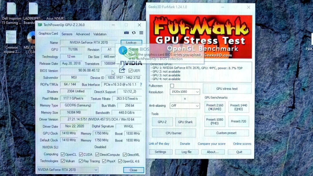 NVIDIA GeForce RTX 2070 GPU 16GB VRAM mod-2
