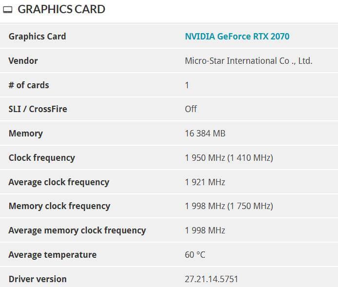 NVIDIA GeForce RTX 2070 GPU 16GB VRAM mod-4