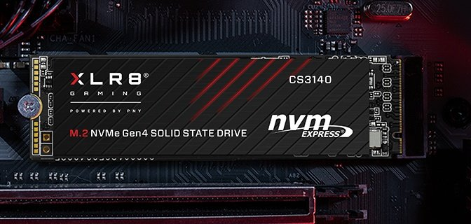 PNY announces its new XLR8 CS3140 M.2 NVMe Gen4 x4 SSD with 7500 MB/s read speeds, fastest SSD on the market