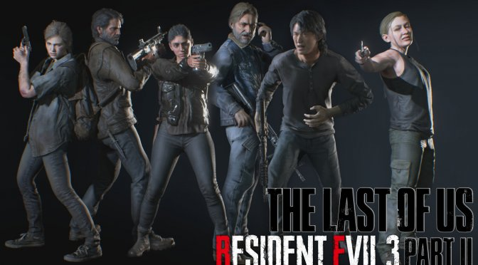 This mod brings the main cast of The Last of Us Part 2 to Resident Evil 3 Remake
