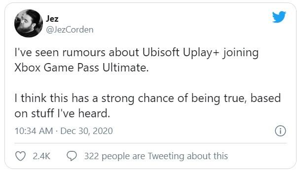 Ubisoft Xbox Game Pass rumor-1