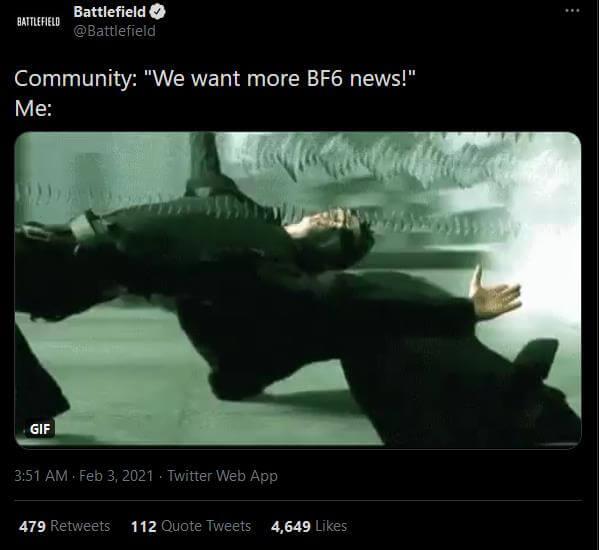 BF6 news tweet