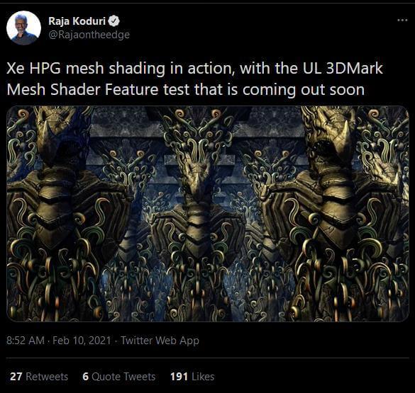 Intel Xe HPG 3DMark Mesh Shader