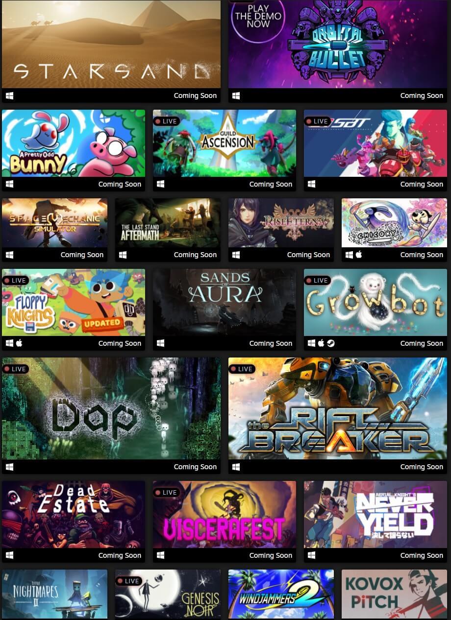 Steam Game Festival Demos
