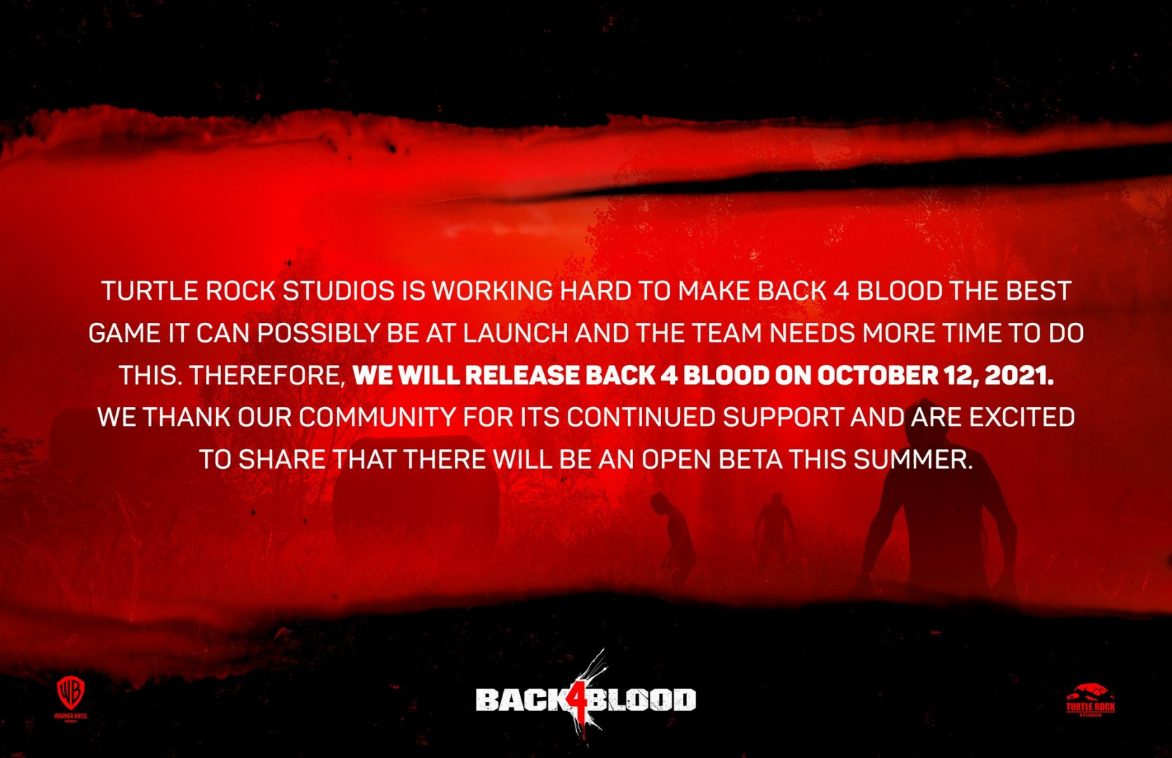 Back 4 Blood delay announcement