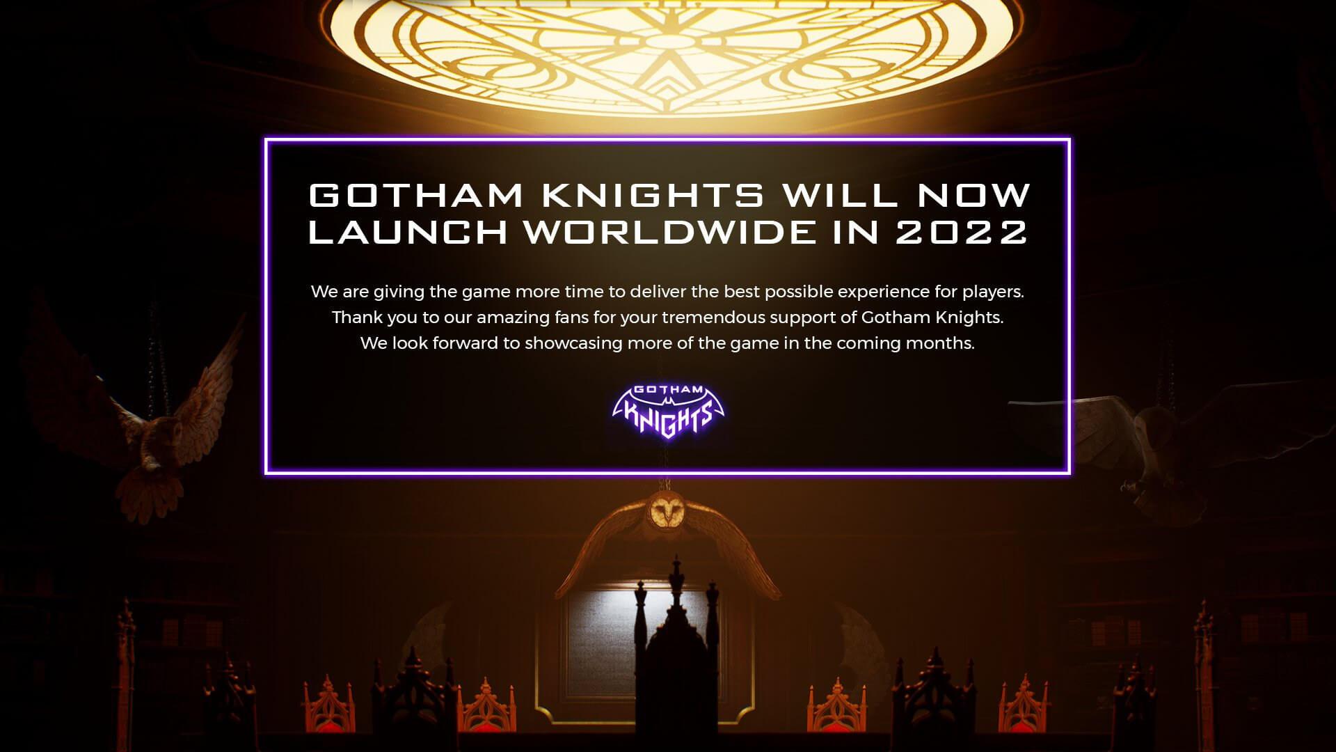 Gotham Knights delay 2022
