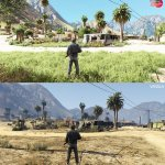 Grand Theft Auto 5 Remake Mod comparison screenshots-7