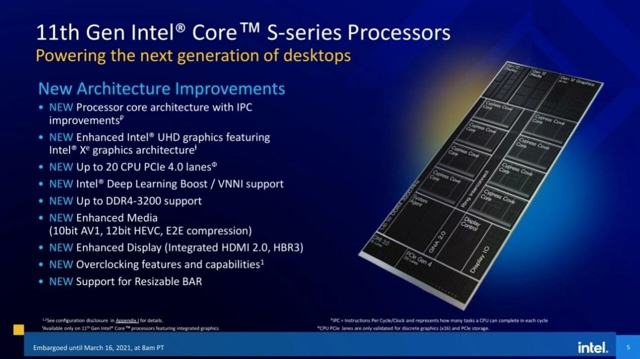 Intel 11th gen Rocket Lake-S CPUs official slides-1