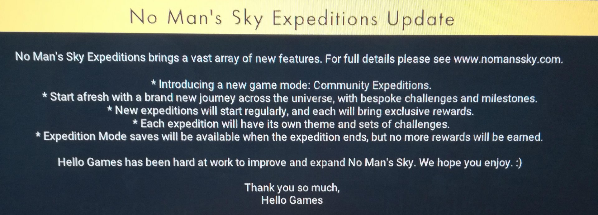 no man's sky expeditions update leak