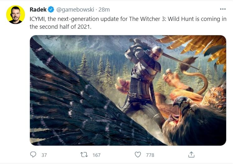 the witcher 3 next-gen update release window