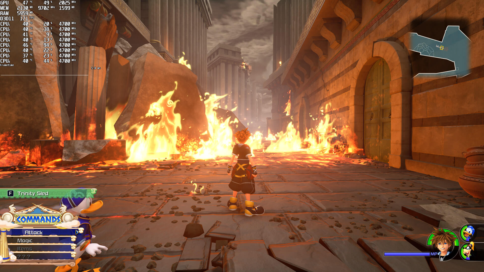 Kingdom Hearts 3 benchmark scene