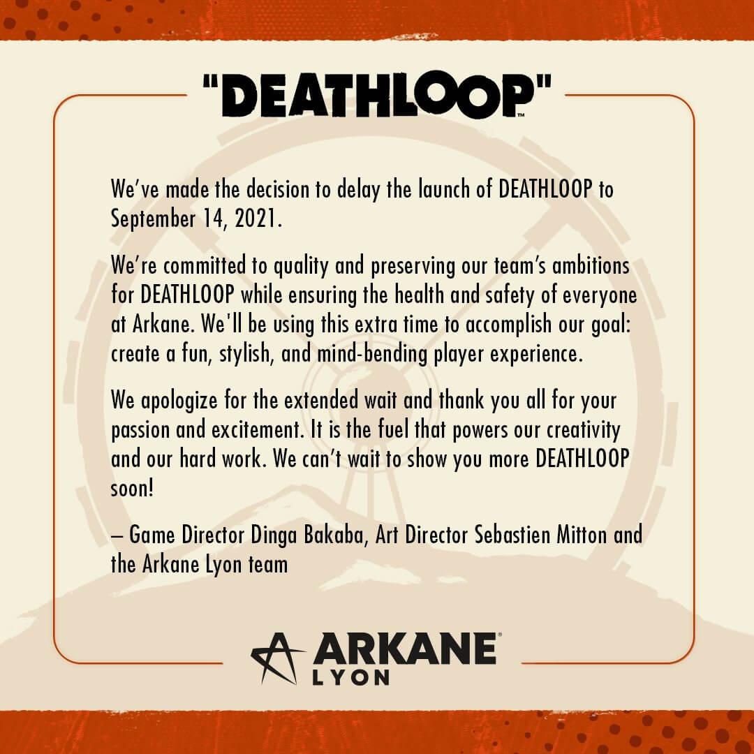 deathloop new delay