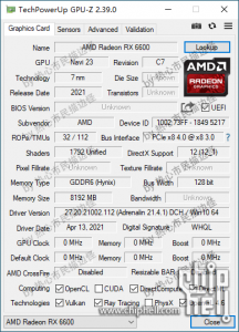 AMD-Radeon-RX-6600-GPUZ