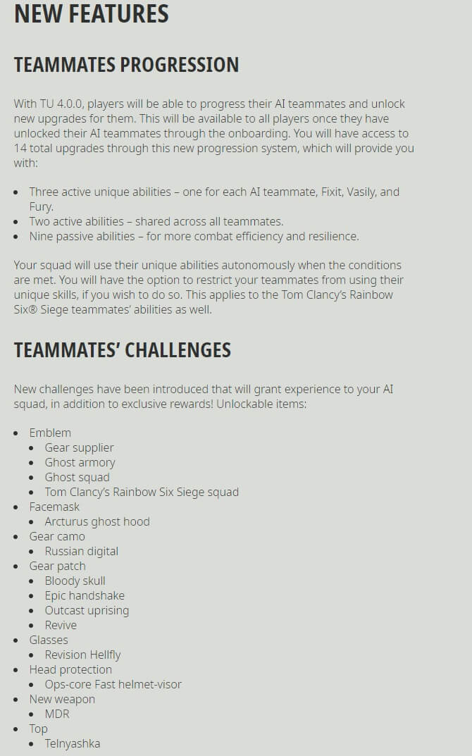 Ghost Recon Breakpoint Title Update 4.0.0 Release Notes-1