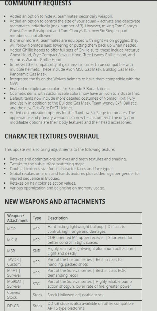 Ghost Recon Breakpoint Title Update 4.0.0 Release Notes-2