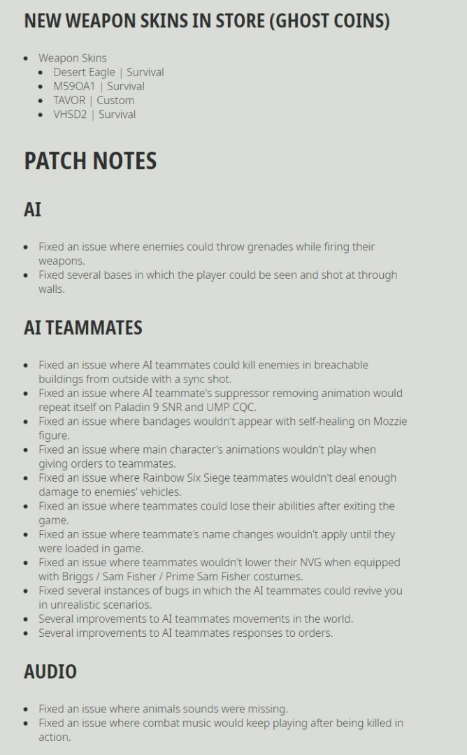 Ghost Recon Breakpoint Title Update 4.0.0 Release Notes-5
