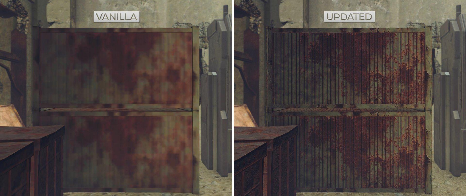 NieR Automata HD Texture Pack comparison screenshots-2