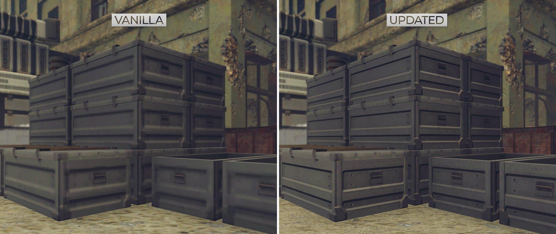 NieR Automata HD Texture Pack comparison screenshots-3