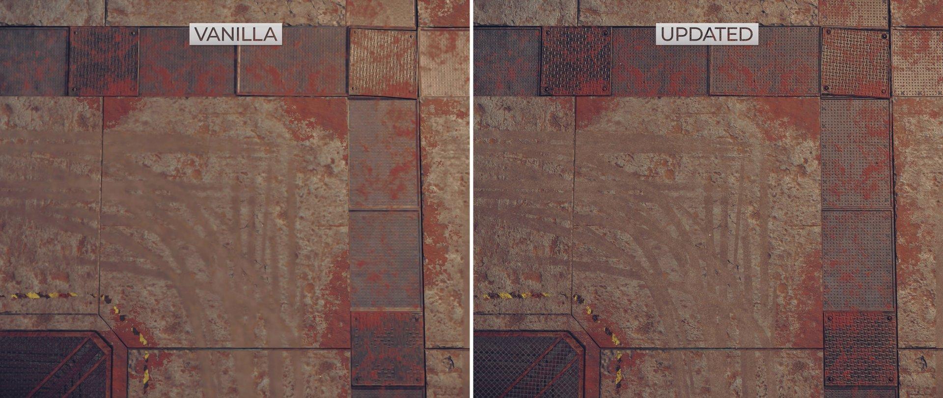 NieR Automata HD Texture Pack comparison screenshots-4
