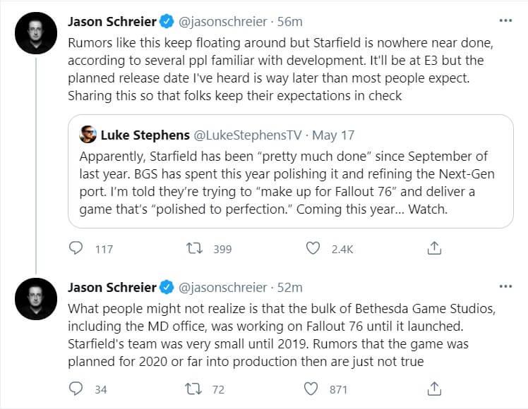 Starfield E3 2021 tease
