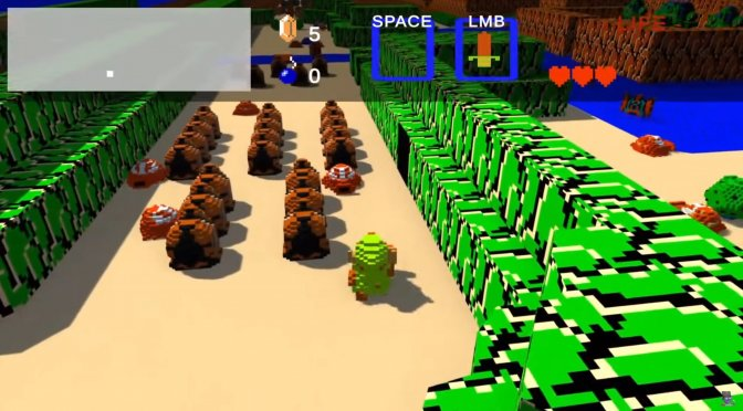 The Legend of Zelda NES looks lovely as an actualy 3D retro game