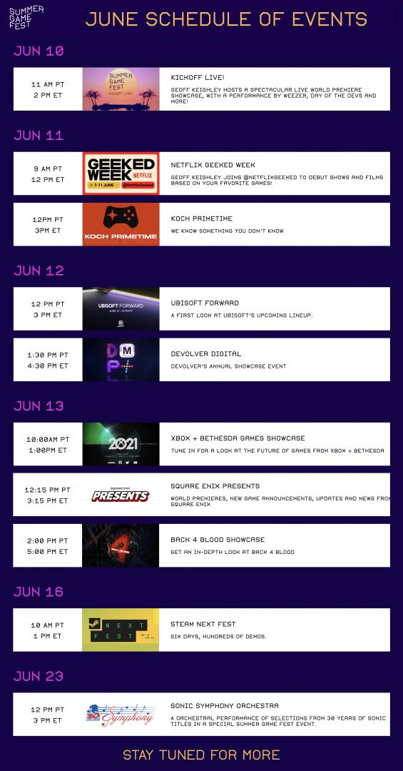 summer game fest first events