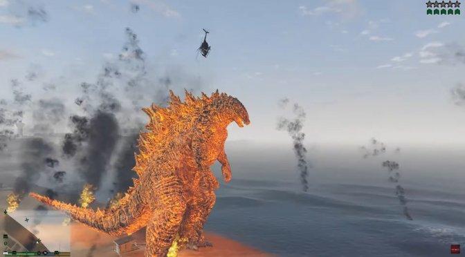 Godzilla GTA 5 Mod feature