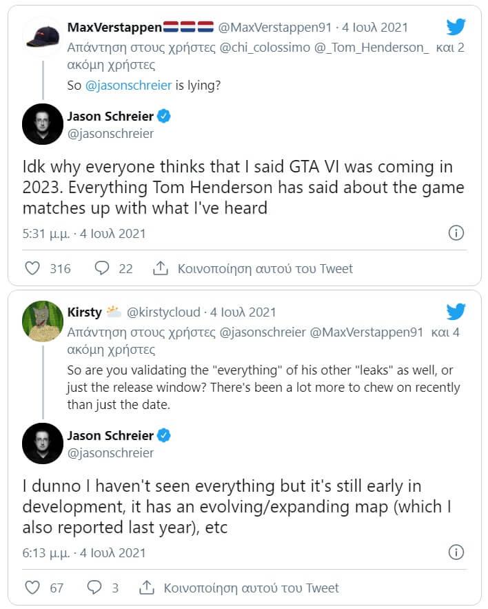 Jason Schreier GTA 6 rumors