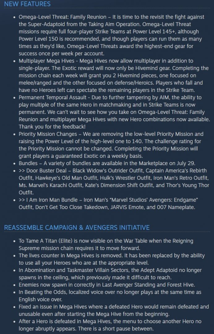 Marvel's Avengers Patch 1.8.2 Release Notes-1