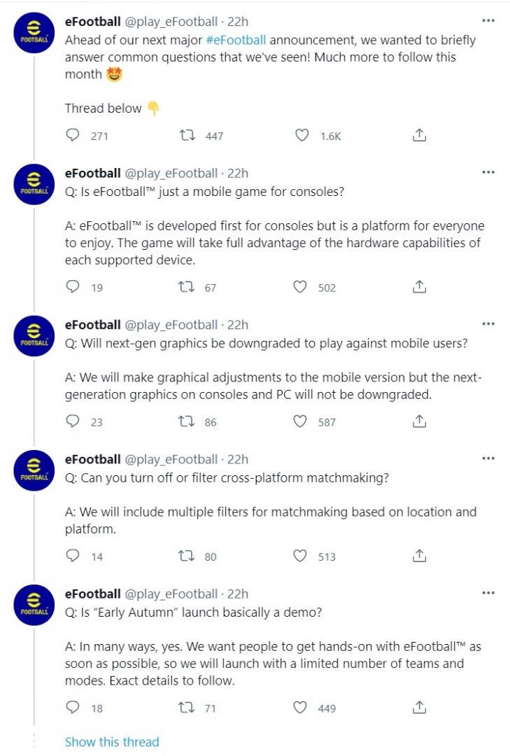 eFootball Autumn demo release