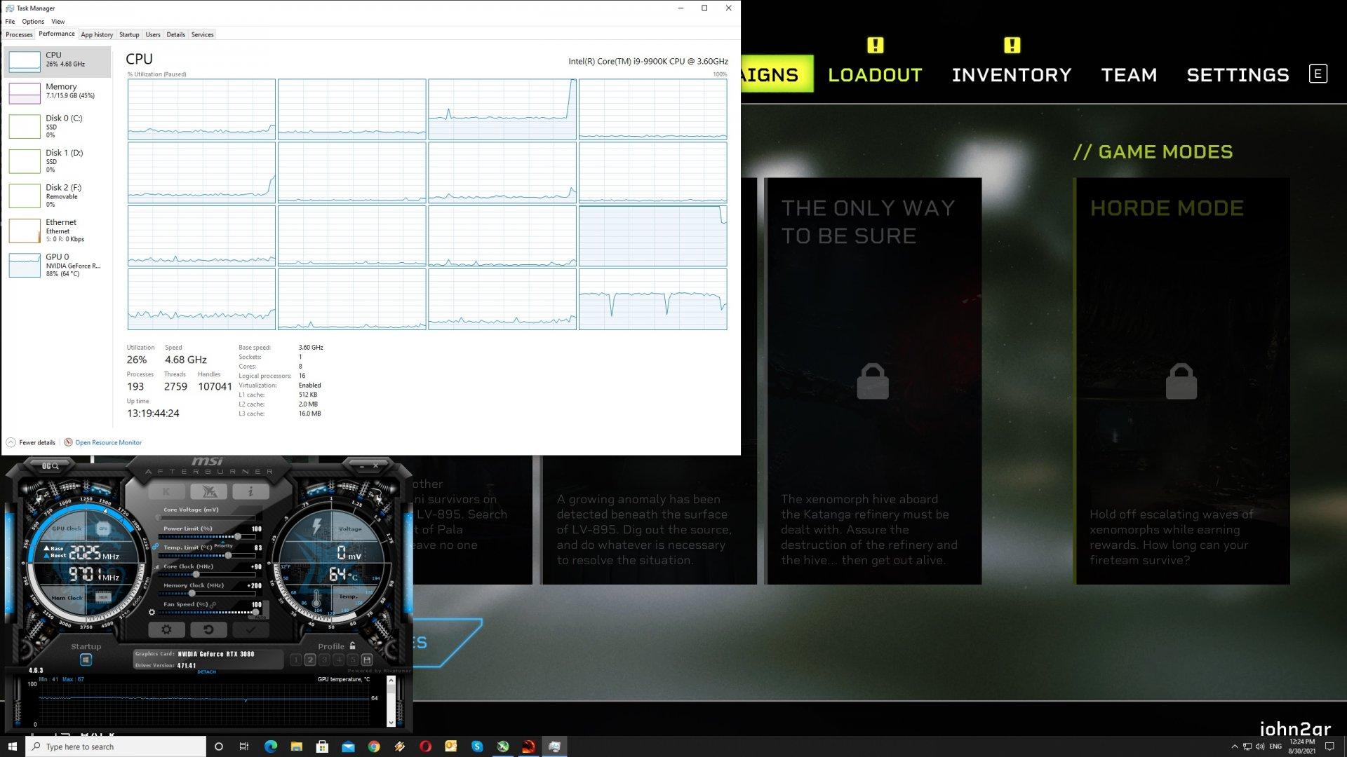 Aliens Fireteam Elite CPU scaling