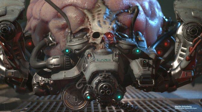 Epic Games' senior artist shows a modern version of Doom 3's Spider Mastermind