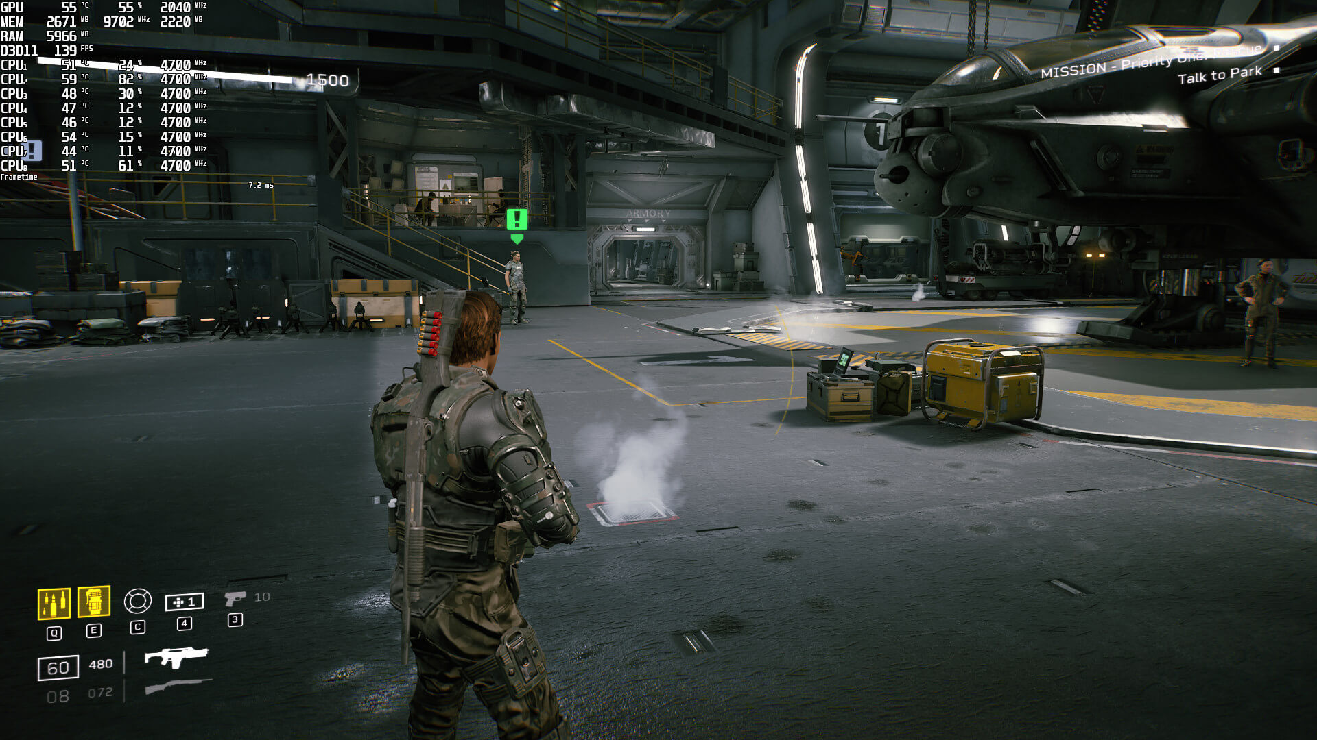 Aliens Fireteam Elite CPU scene