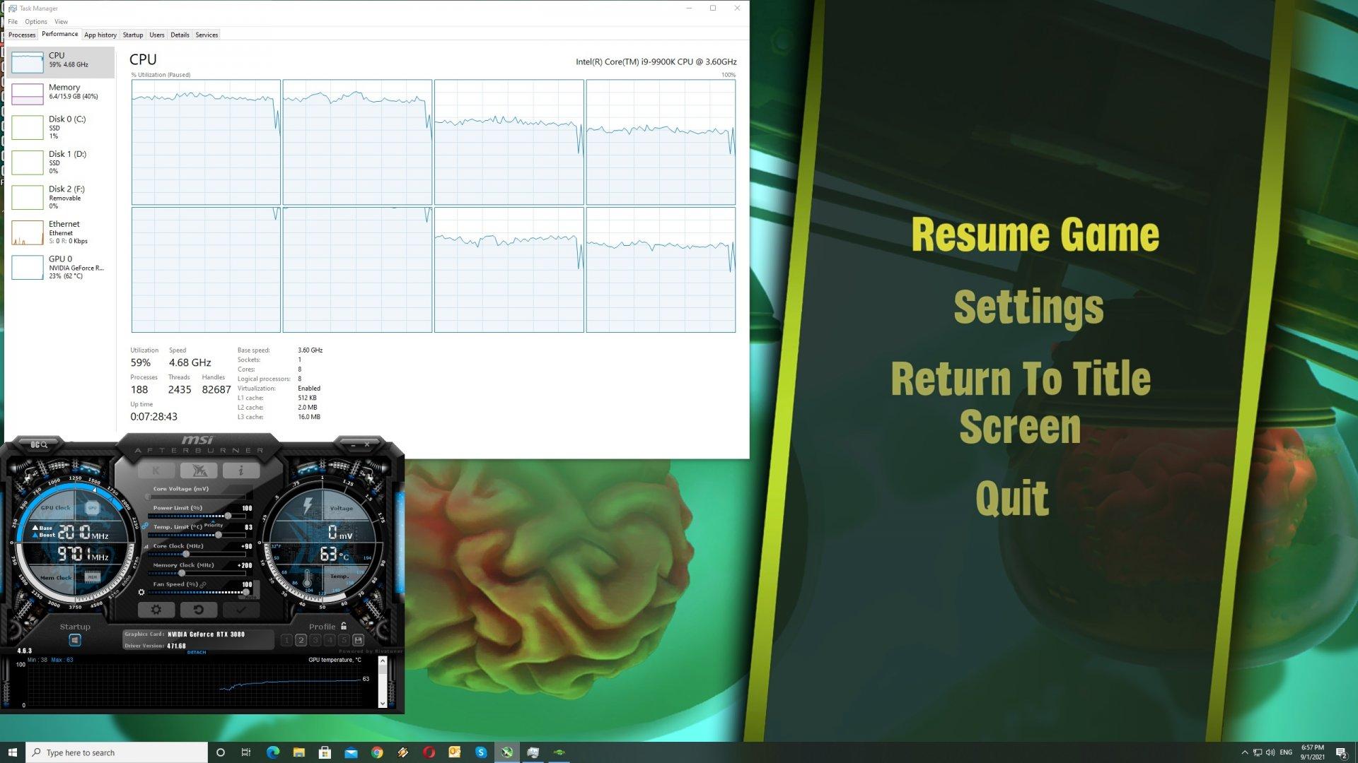 Psychonauts 2 CPU scaling