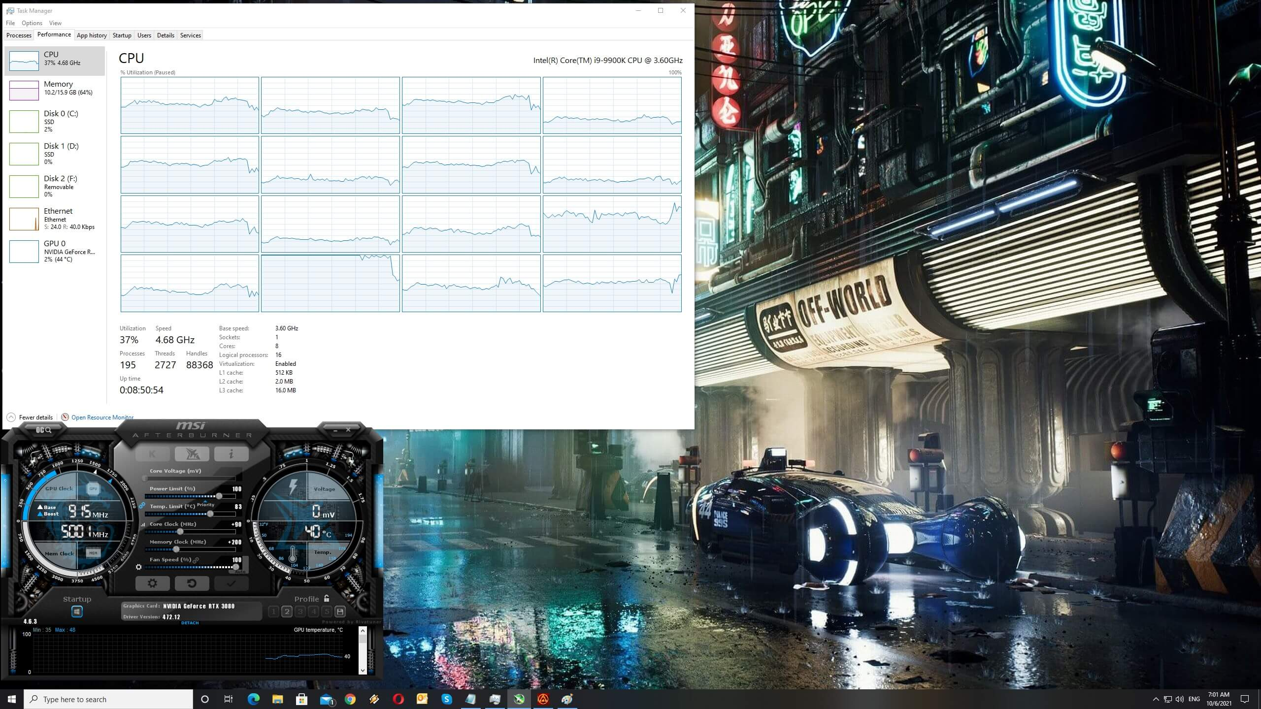Far Cry 6 CPU scaling
